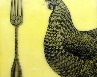 "Original Encaustic Painting ""Dinner"""