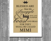 MIMI Typography Instant Download QUOTE // Personalized Gift for MIMI // Mimi SIgn // Customizable Wall Hanging Gift for Mothers Day