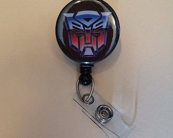 Autobot Button Badge Reel