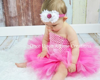 Ready To Ship - Pink Candy Couture Tutu Dress - Newborn 3 6 9 12 18 24 Months 3T 4 T 5 6 - Birthday, Photo Prop, Dress Up, Halloween Costume