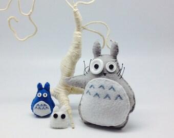 Totoro, felt totoro, totoro plush, totoro decor, studio Ghibli, woodland creature, anime toy, kawaii totoro, forest spirit, geeky gift.