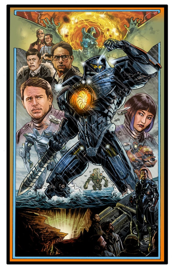 Illustrated Pacific Rim Poster