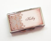 Personlized Pill Case, Custom Pill Case, Pill case, 7 day, 7 sections, Pill box, Pill case, Lace, Personalized, You Pick Color (3859)