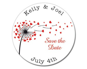 Wedding Save the Date, Hearts, Save the Date, Engagement, Save the Date Magnet, Magnet, Wedding Announcement, Custom, Personalized (3884)