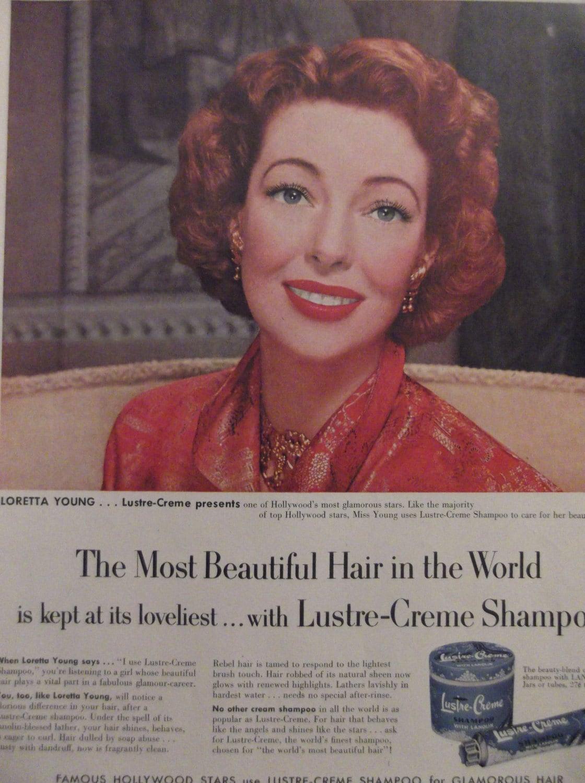Lustre creme shampoo loretta young original vintage for Lustre original