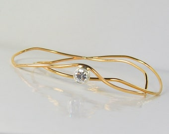 Wavy Gold Bangles | Set of 2 Bracelets