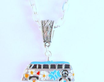 VW Flower Power Camper Van Necklace