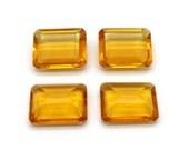 GCF-1349 - Citrine Faceted Gemstone - Rectangular 16x20mm - Calibrated Gemstone - AA Quality - 1 Pc