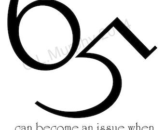 65th birthday | Etsy