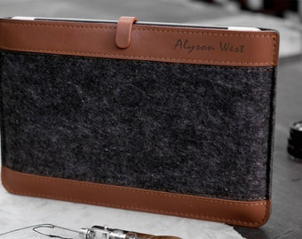 Macbook Pro Retina 15 leather case, Tan and Gray.