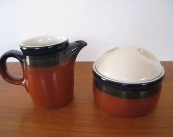 Mikasa Ben Seibel Fire Song Potters Art sugar and creamer 3 pcs