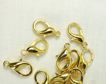 Clasp 23mm Gold Color Lobster Clasp Jewelry Finding keychain purse supply crafts findings large clasps