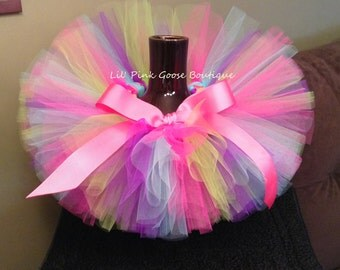 BIRTHDAY GIRL Tutu, Birthday Tutu, Colorful Tutu, Rainbow Tutu, Infant Tutu, Tutus for Children, Newborn Tutu, 1st Birthday Tutu, Tutu