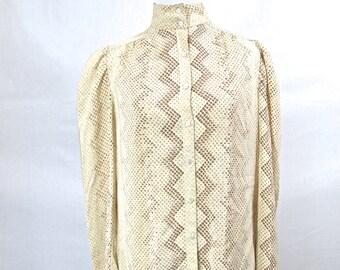 70s Silk Snakeskin Blouse