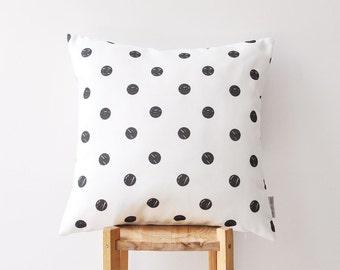 "Black & White Geometric Decorative Pillow, Modern Nursery Pillow, Monochrome Kids Pillows, Teen Pillow, Throw Pillow 16"" x 16"""