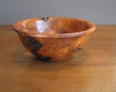 Cherry burl wood bowl, wood turning, decorative bowl, rustic decor