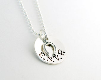 Cowgirl Necklace Custom Horse Jewelry Personalized Hand Stamped Sterling Silver