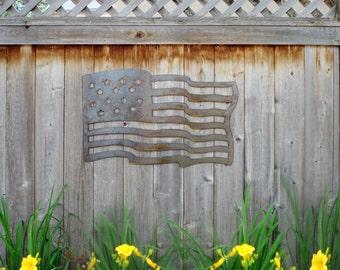 Steel American Flag