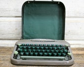 Vintage Industrial Smith Corona Typewriter--Portable Typewriter