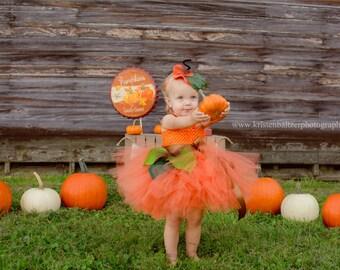 Pumpkin tutu Costume, Pumpkin tutu, Baby costume, Kids Costume, Fall Tutu