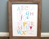 ABC Nursery Art - Alphabet Art Print Perfect for Children's Rooms