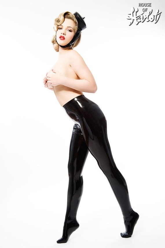 GHISLAINE Skin Tight Latex Rubber Leggings by HOUSEofHARLOT