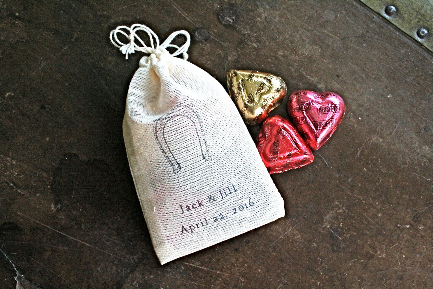 Personalized wedding favor bags 3x4.5. Set by ClementineWeddings