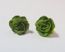Food Jewelry Lettuce Earrings, Miniature Food Earrings, Mini Food Jewelry, Gift for Vegetarian, Lettuce Jewelry, Gift for Vegan, Kawaii