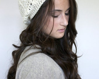 Women's Slouchy Hat in Nature Cream / The Ainsley