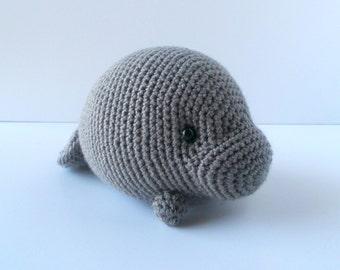 Crochet Amigurumi Manatee : Manatee amigurumi Etsy DE