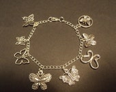 Butterfly Collection Charm Bracelet