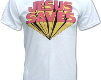 Jesus Saves T-Shirt - Graphic Tees for Men & Women