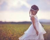 Double Ruffle Tulle Twirl  flower girl Dress