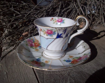 Cup and Saucer - Occupied Japan - bone china - Ucagco China