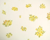 Vintage Sheet Fabric Fat Quarter - Sprinkled Yellow Flowers