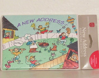 New Address Cards - Vintage New Address Cards - New Address - New Home - House Warming Gift - 1990s
