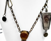 Bright Ideas, OOAK found object pendant necklace.