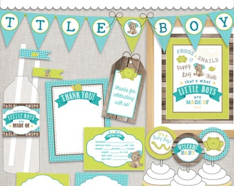 d.i.y. Little Boy Baby Shower Printable PDF Party INSTANT DOWNLOAD
