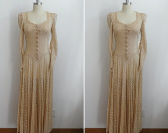 Vintage 1930's Lace Wedding Gown