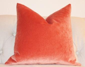 orange pillow orange velvet pillow cover tangelo solid pillow cover orange decorative pillow
