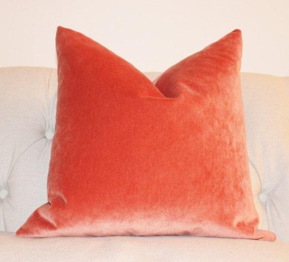 Orange Velvet Throw Pillows : Orange Pillow Orange Velvet Pillow Cover Tangelo Solid