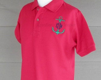 Girls Monogrammed Polo Shirt