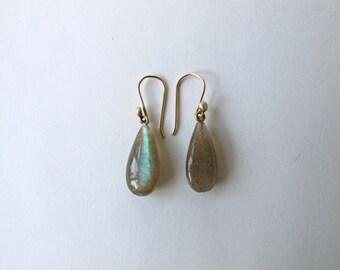 Labrodorite drop earrings