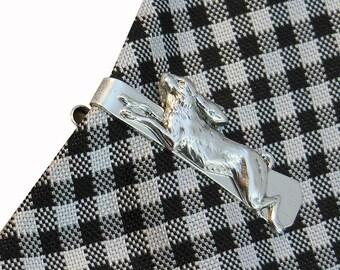 Rabbit Tie Clip  Hare Tie Bar Victorian Silver Men's Unique Gifts Accessories