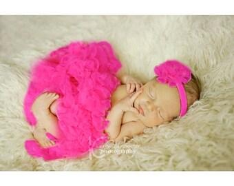 Newborn Baby Girl Berry Fuchsia Petticoat Girls Skirt Extra Fluffy
