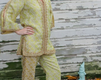 Moroccan Gold Brocade Leisure Suit by Au Chic