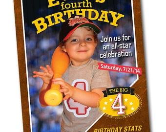 Sports Card Personalized Birthday Invitation - Baseball Card Invitation - Football Card Invite - Baseball Card Invite - Party Printable