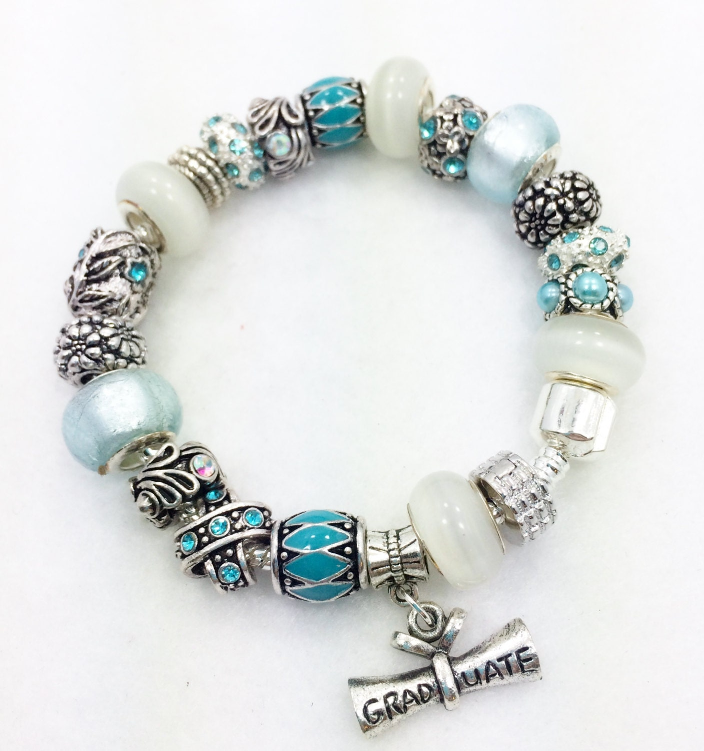 graduation european style charm bracelet by graceandliz on