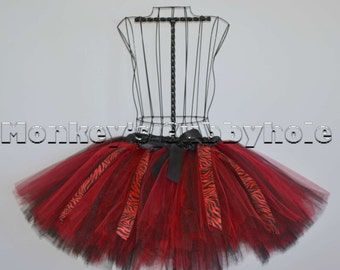 Devilishly Red Zebra Tutu