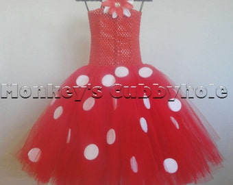 Minnie Mouse Red Tutu Dress